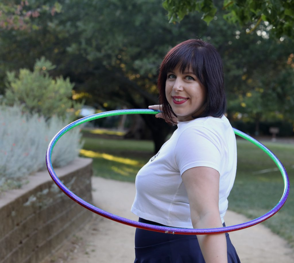 Hula hoop at the park in concord