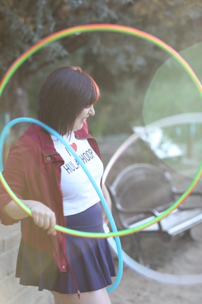 hula hoop with claire