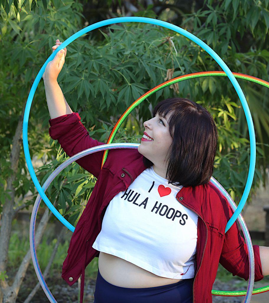 three hula hoops